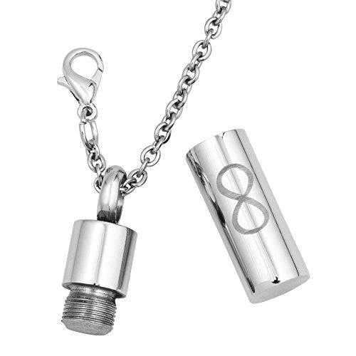 lilyjewelry collar de la urna infinita para cenizas recuerdo