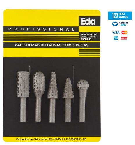 lima grosa rotativa p/ madeira kit c/ 5 peças ferramentas