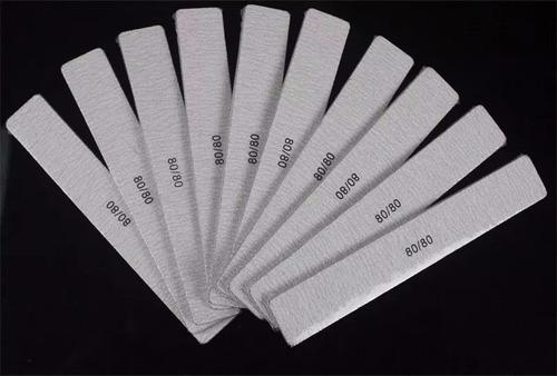limas para uñas cuadrada blanca 100/180 - 100/100 paquete 24