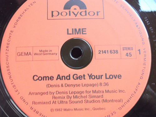lime- come and get your love (special maxi version) -germany
