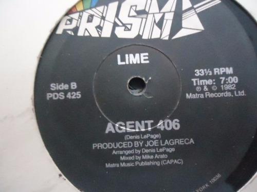 lime / i ll be yours - agent 406 vinyl lp acetato