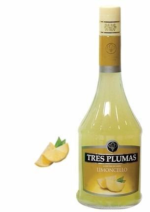 limoncello licor de tres plumas x 2 botellas envio gratis