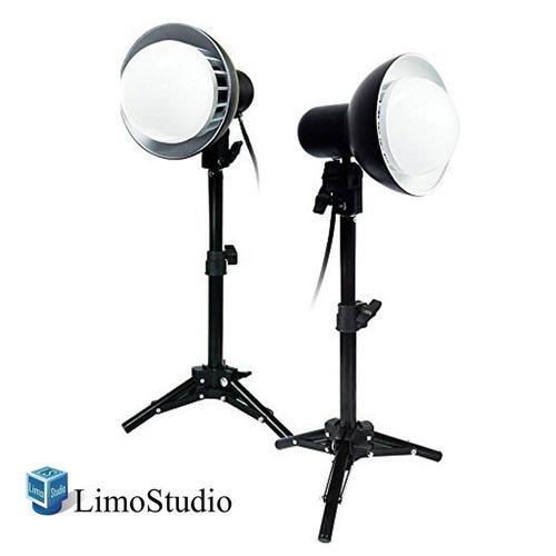 limostudio 2 juegos de 18w led fotografía mesa superior kit