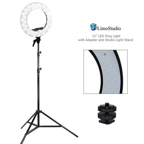 limostudio led ring light 5600k regulable, adaptador de mont