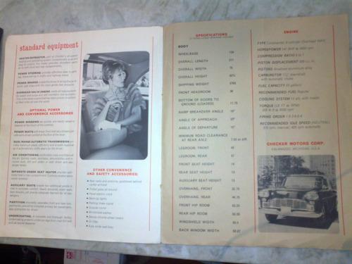limousine catálogo manual do proprietário antiga / em inglês