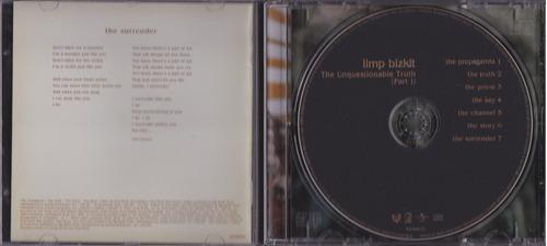 limp bizkit - cd the unquestionable truth part 1 - seminovo