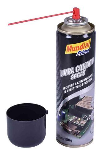 limpa contato elétrico com 300 ml para peças e eletrônicos