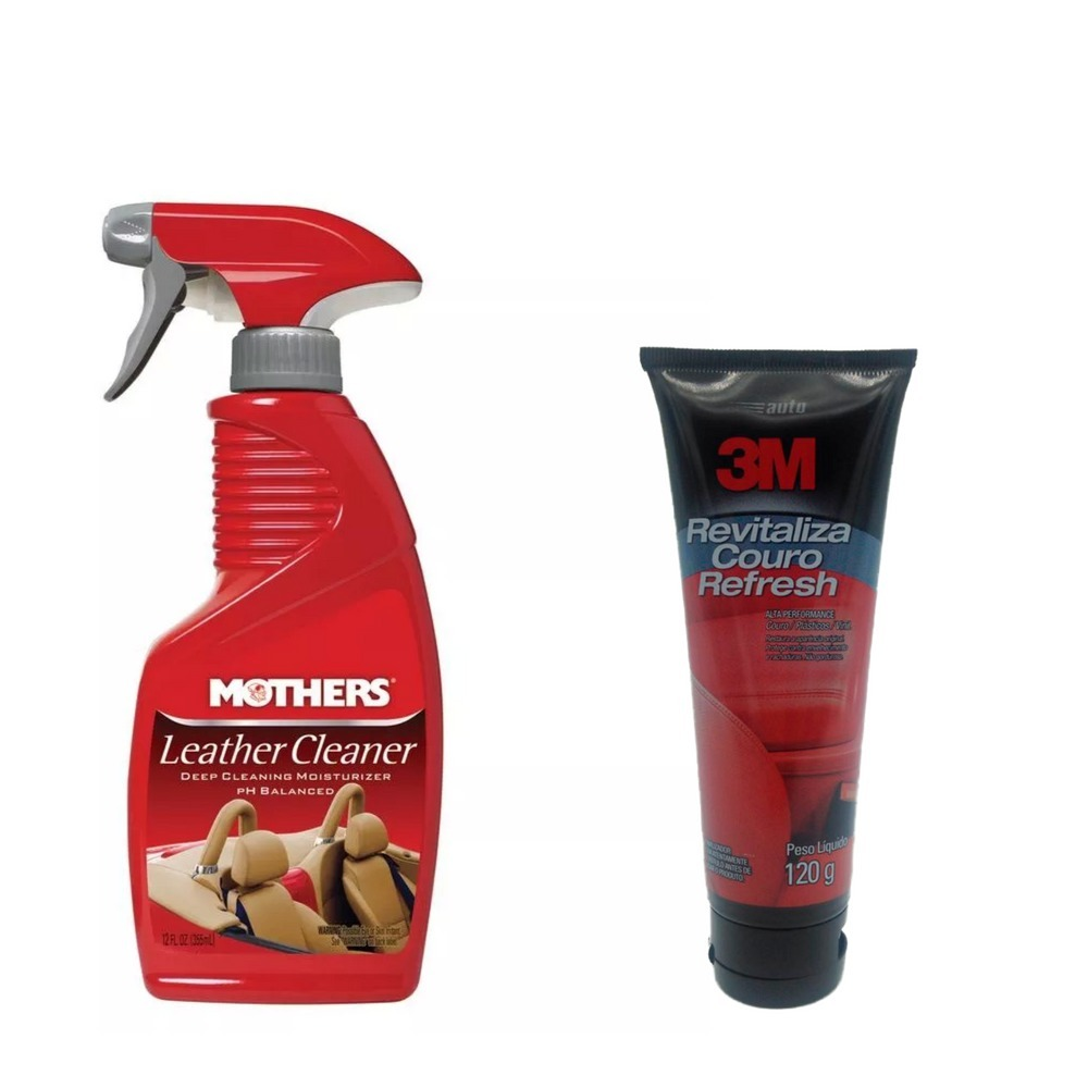 dd3ae51bbb2d7 Limpa Couro Mothers + Refresh Revitaliza Couro 3m - R  109