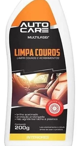 limpa couros multilaser  autocare aud456 200ml