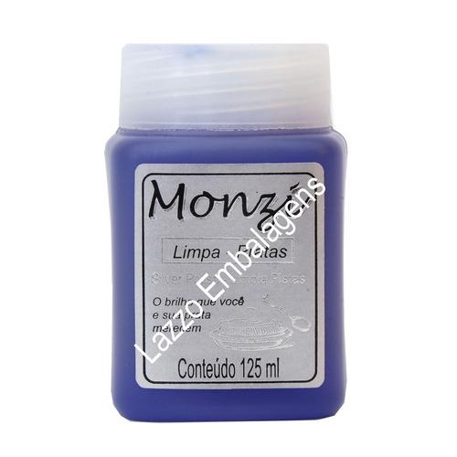 limpa joias em prata grande monzi 125ml produto + flanela-