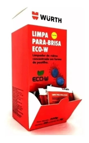 limpa para-brisa em pastilha eco - wurth 5g ( 50 unidades )