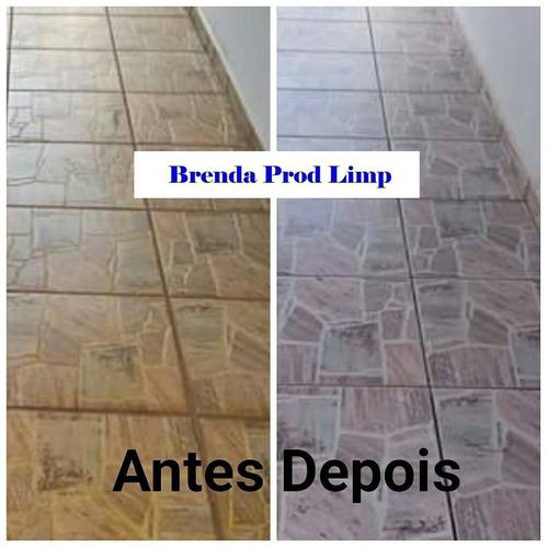 limpa piso encardido cerâmica pedras 60 lt materiais limpeza