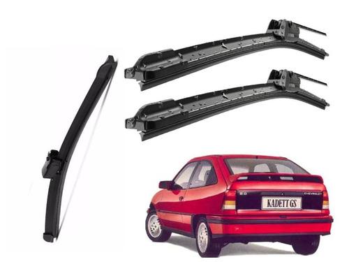 limpador parabrisa silicone dianteiro+traseir kadett 1989/97