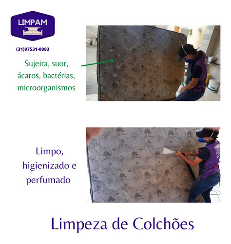 limpeza e higienização de sofá, colchão, bancos de carro