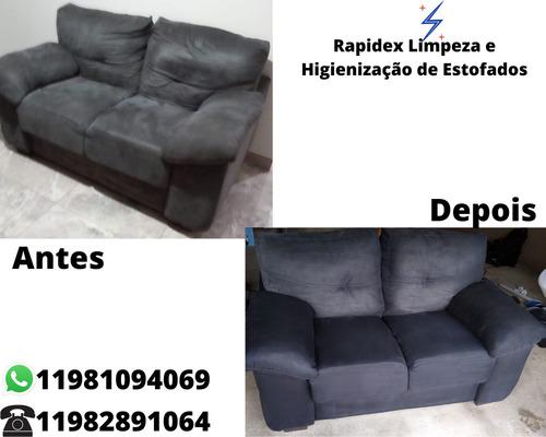 limpeza e higienização profissional de estofados (sofá, etc)