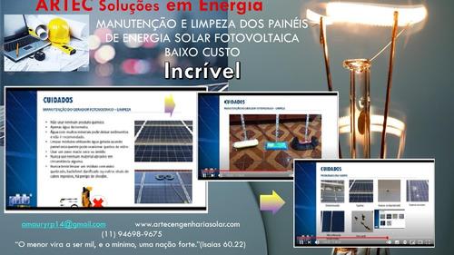 limpeza e manutenção de painéis solares fotovoltáicos