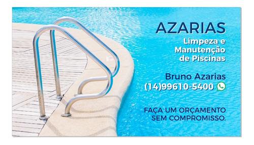 limpeza e manutenção em piscinas