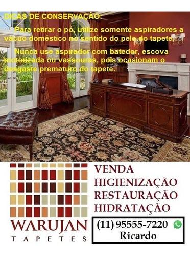 limpeza e restauração de tapetes orientais