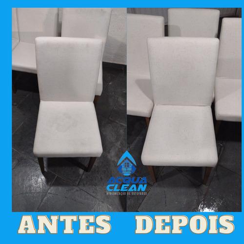 limpeza, higienização e impermeabilização