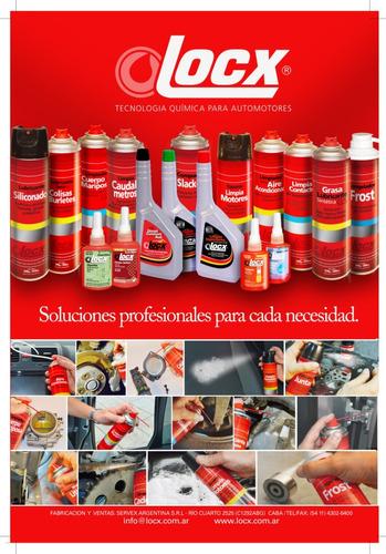 limpia cadena desengrasante aerosol moto cuatri locx 360 ml
