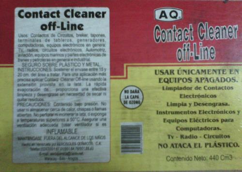 limpia contacto electronico off-line aq 235 ml y 440 ml