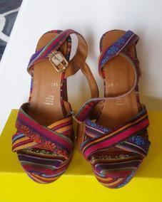 Closet Sandalias Mexicano Estampado De Cuña Limpia EDH92I