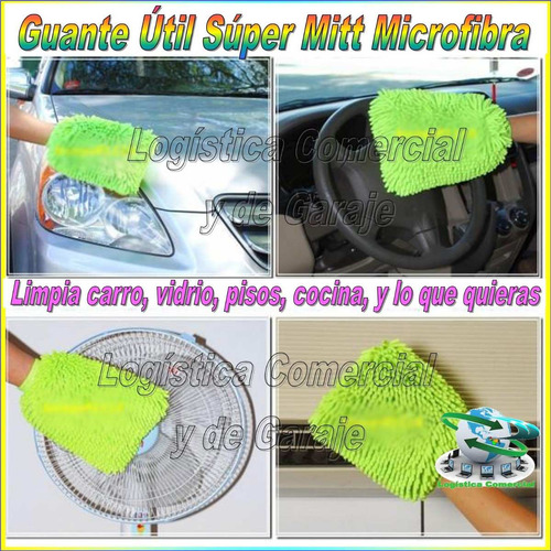 limpia facil y rapido super mitt guante de microfibra tv