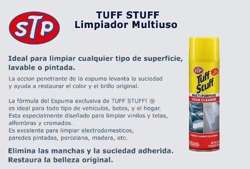 limpia limpiador asiento tapizados stp tuff stuff made usa