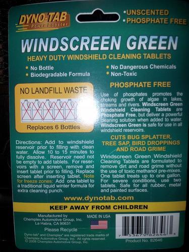 limpia parabrisas en pastilla dyno-tab