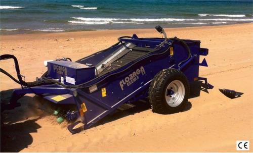 limpia playas, barredora de playas flozaga