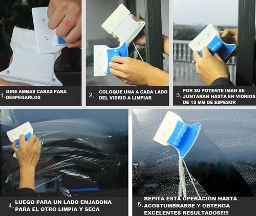 limpia vidrios magnetico