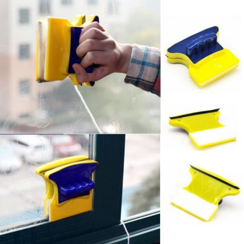 limpia vidrios magnetico limpia y seca los 2 lados a la vez