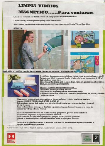 limpia vidrios magnetico - original en tamaño grande