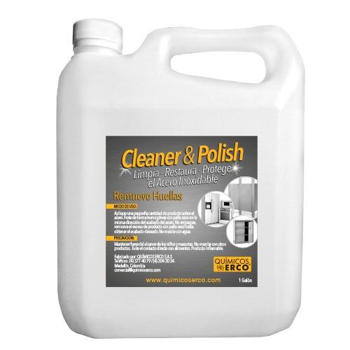 limpiador antihuellas para acero inoxidable 1 galón