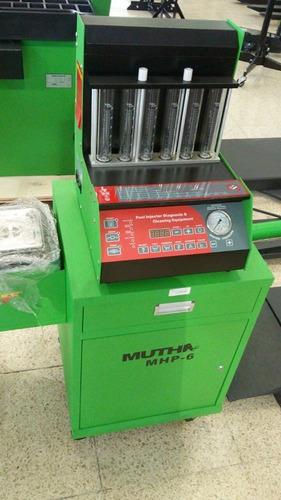 limpiador / comprobador de 6 inyectores con mueble muth