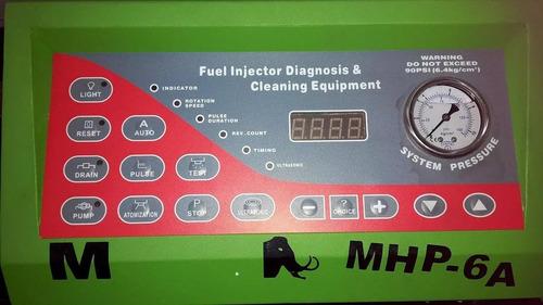 limpiador / comprobador de 6 inyectores marca muth