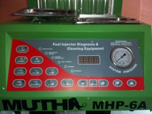 limpiador / comprobador de 6 inyectores muth modelo mhp-6a
