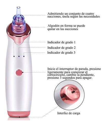 limpiador de poros espinillas electrónico blanco púrpura