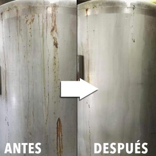 limpiador desmanchador de acero inoxidable clinox 550ml