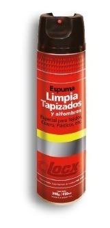 limpiador espuma limpia tapizados y alfombras 410 ml locx
