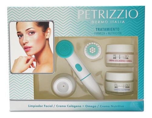 limpiador facial cabezales petrizzio + tratamiento colageno