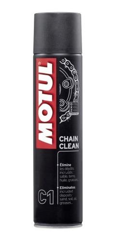 limpiador limpia cadena moto bici motul c1 chain clean 400ml