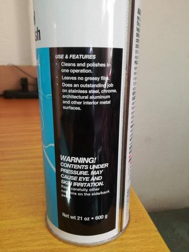 limpiador y pulidor 3m en aerosol para a inoxidable