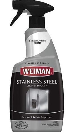 limpiador y pulidor de acero inoxidable weiman - brillo !