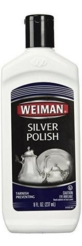 limpiador y pulidor de plata weiman - 8 onzas - brillo !