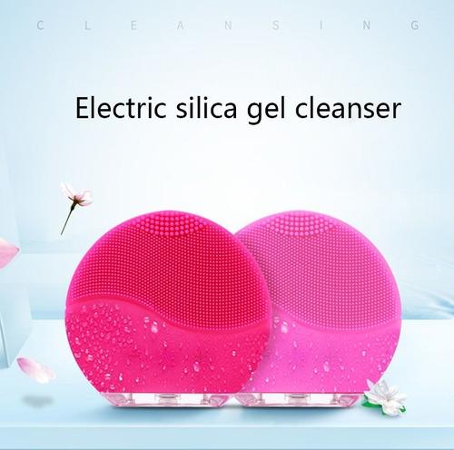 limpiadora y masajeadora facial eléctrica estilo luna mini