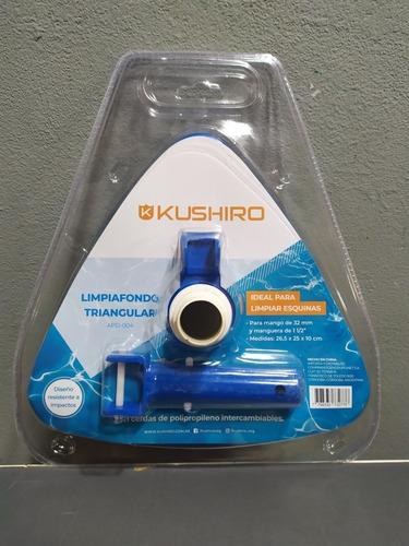 limpiafondo barrefondo kushiro triangular cepillo pileta