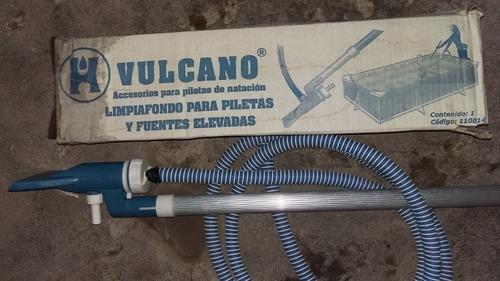 limpiafondos  vulcano  para piletas.