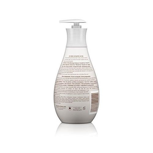limpiar vivir leche de coco hidratante jabón líquido, 17 onz
