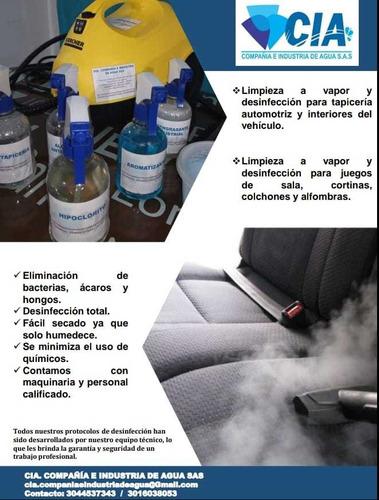 limpieza a vapor y desinfección para tapicería y hogar